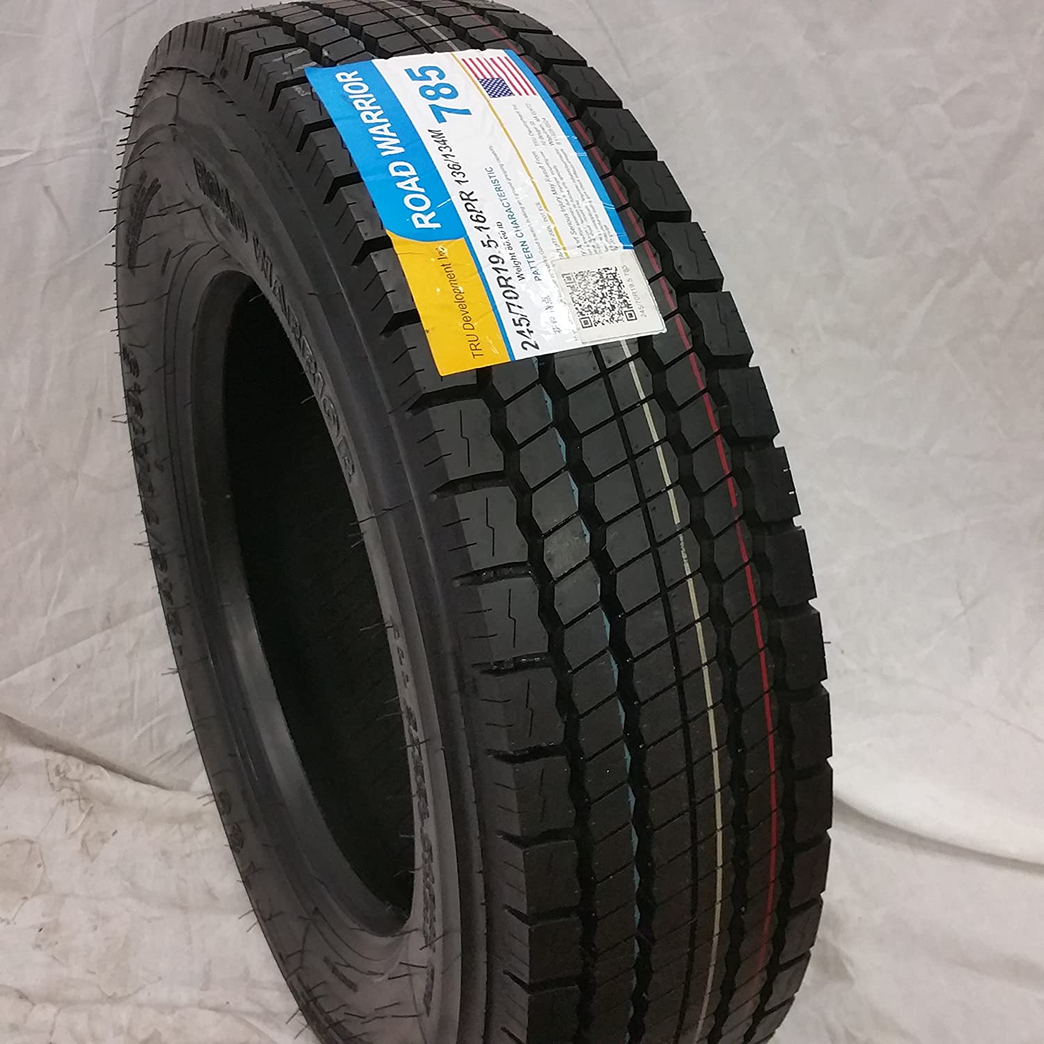 (6-TIRES) 245/70R19.5 H/16 NEW ROAD WARRIOR ALL POSITIONS TIRES 16 PLY 24570195 ROAD WARRIOR TIRES