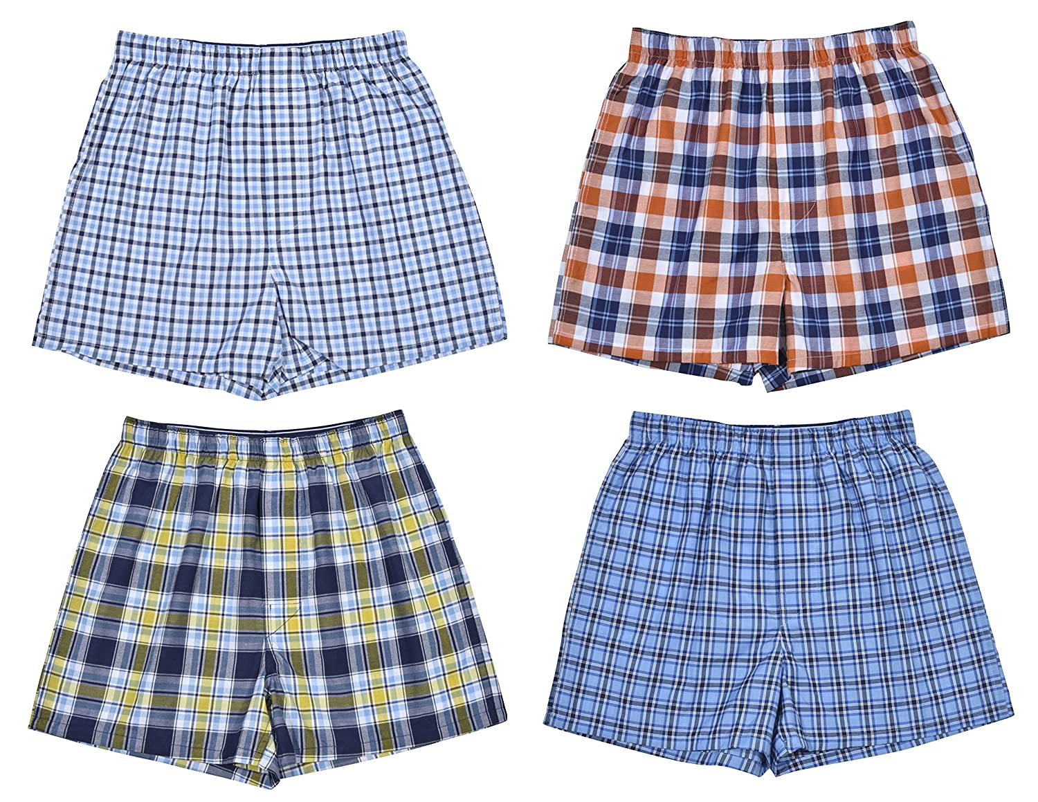 Perry Ellis Boys' 4-Pack Woven Boxer Shorts