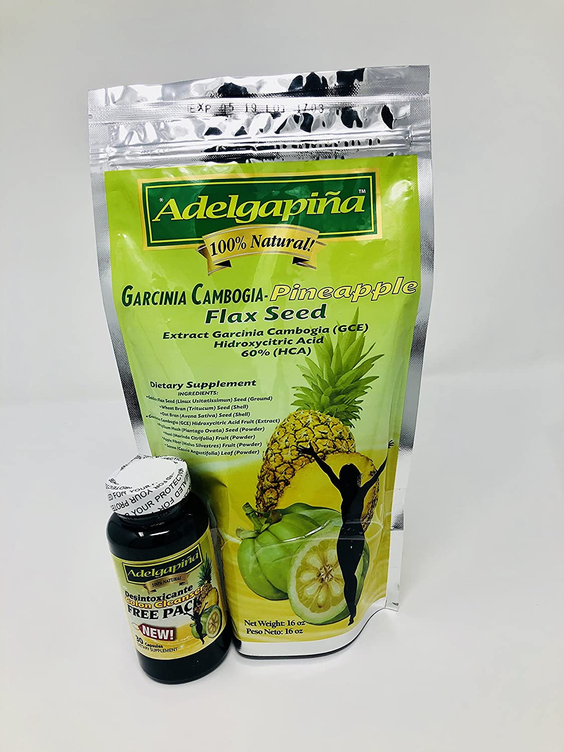 Amazon.com: ADELGAPINA FLAX SEED PINEAPPLE AND GARCINIA CAMBOGIA 16oz: Health & Personal Care