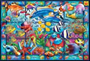 Buffalo Games - Stained Glass Aquarium - 2000 Piece Jigsaw Puzzle