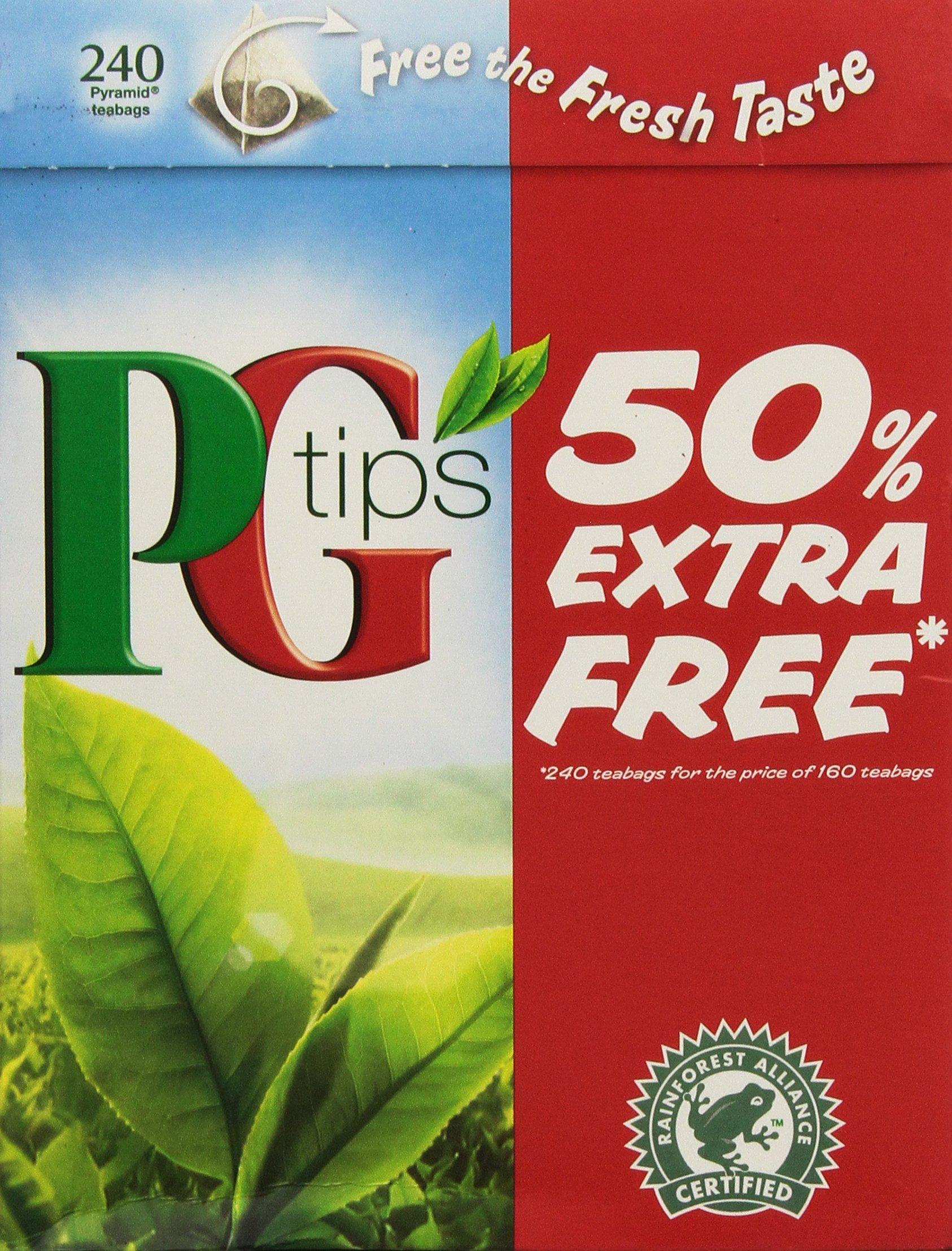 Pg Tips 240 Bags 2pk (160 Bags +80 Bags Free)- 480 teabags total.