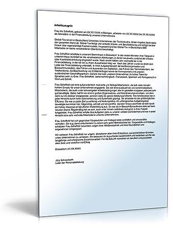 Arbeitszeugnis Sekretärin Note Eins Word Dokument Amazonde Software