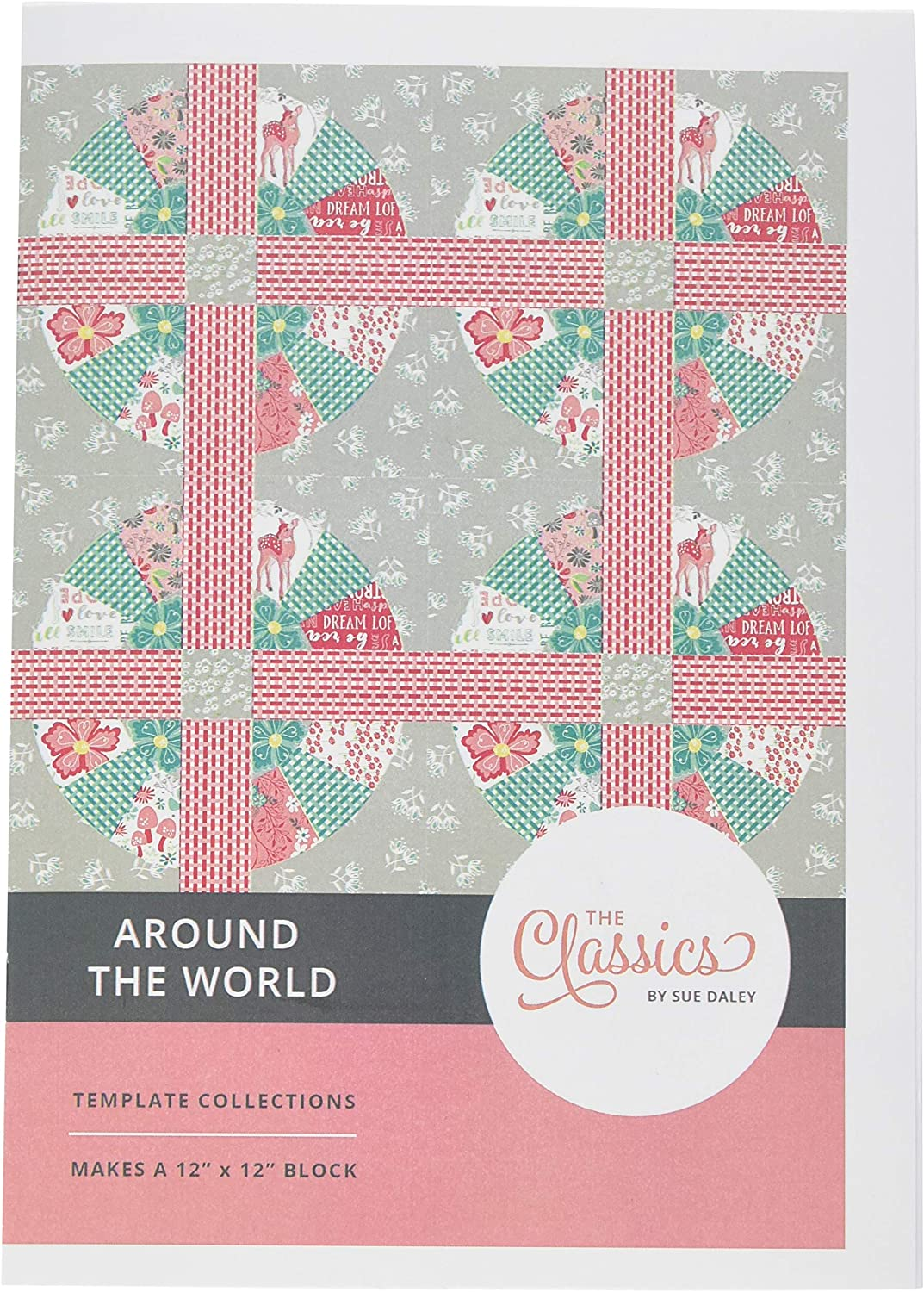 Sue Daley Designs CL108-ATW Around The World Block Classics Template Set Multicolor