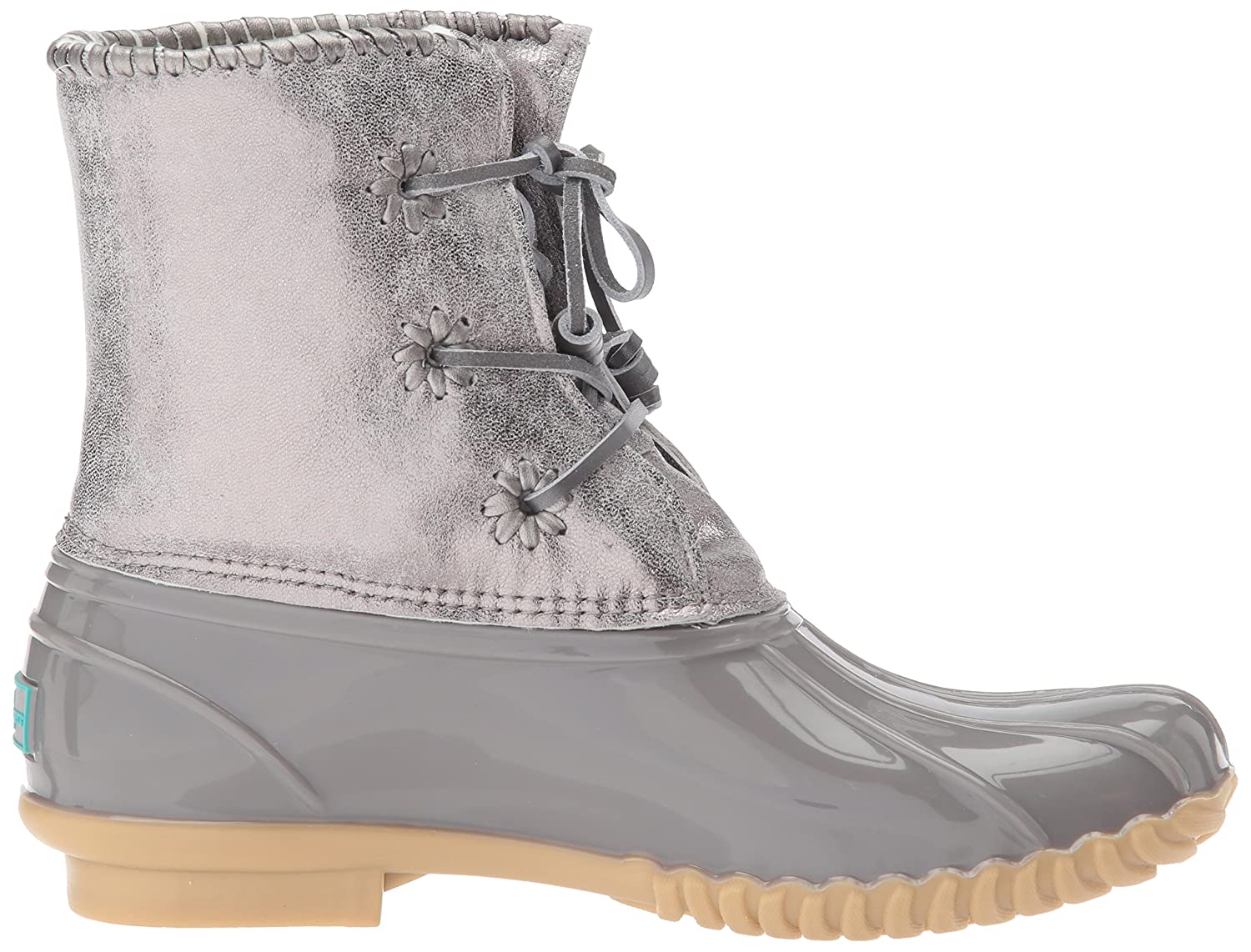 Jack Rogers Women's Chloe Metallic Rain Boot B06X9NR8ZS 11 B(M) US|Dove Grey
