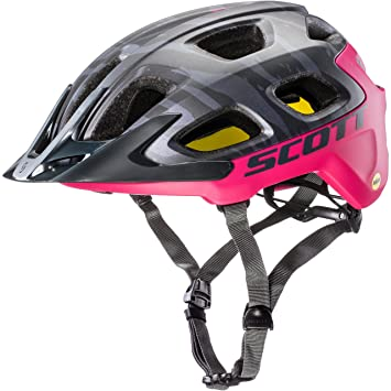 Scott casco vivo Plus (CE) Dark Grey/Pink