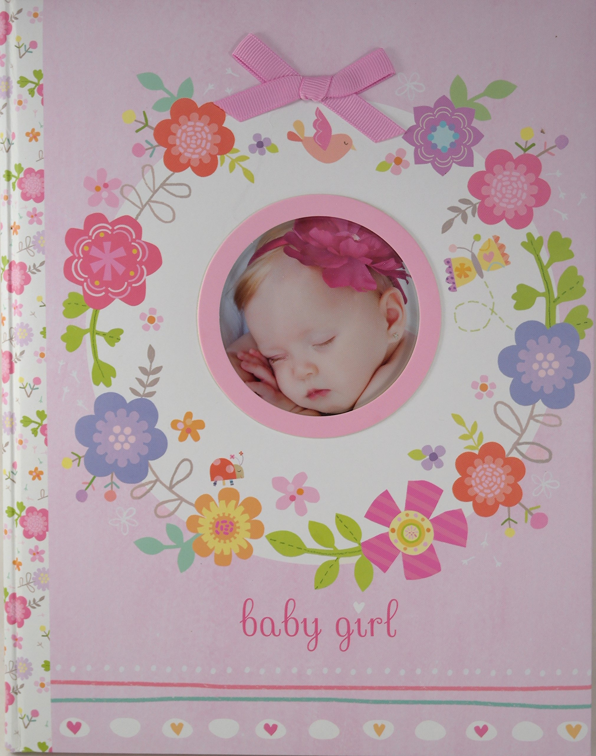Stepping Stones Ring Around The Rosie Pink Flowers Baby Girl Memory Book