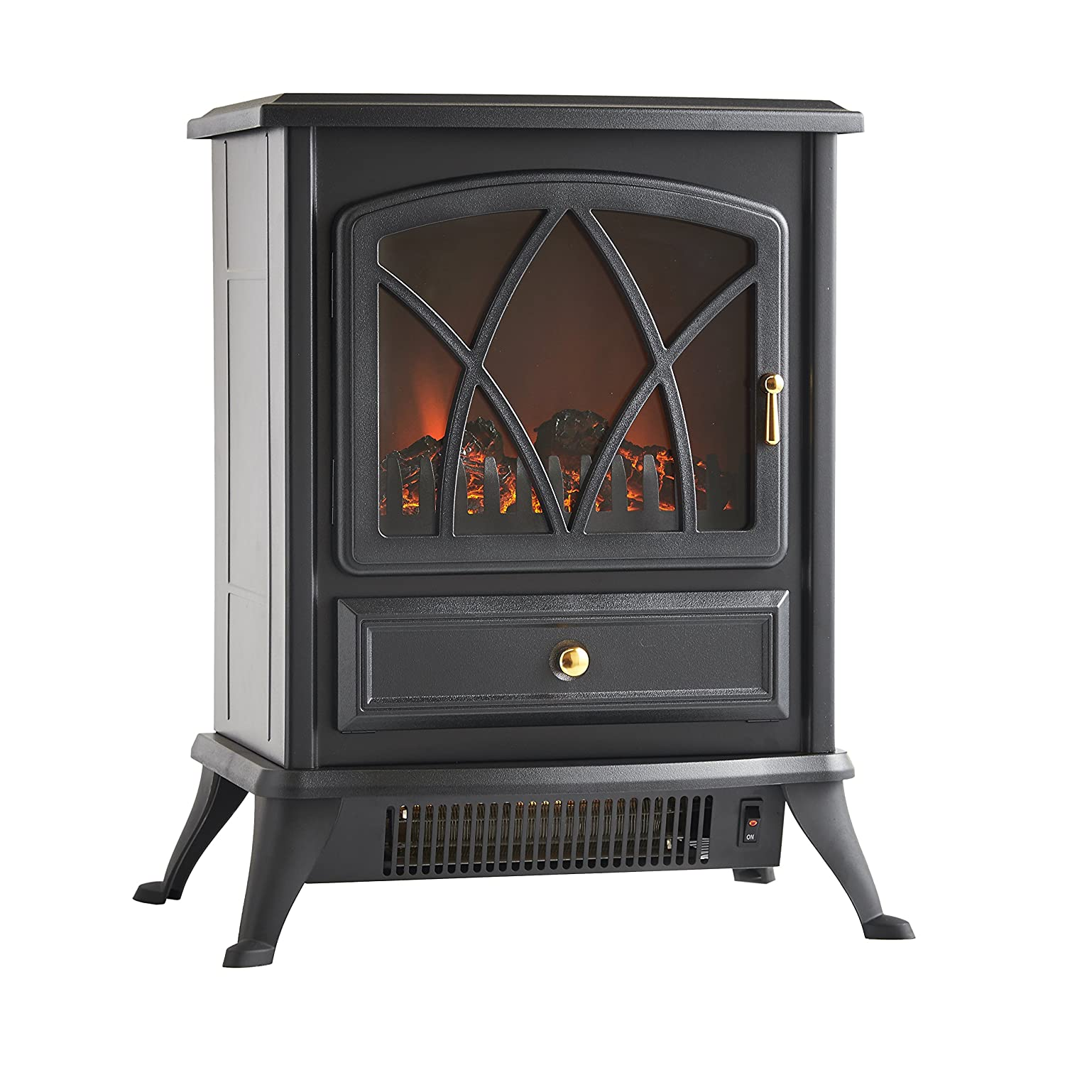 Amazon.com: VonHaus 1500W Portable Electric Stove Heater Fireplace with Log  Burning Flame Effect, Black: Home & Kitchen - Amazon.com: VonHaus 1500W Portable Electric Stove Heater Fireplace
