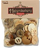 Buttons Galore Haberdashery Button, Natural
