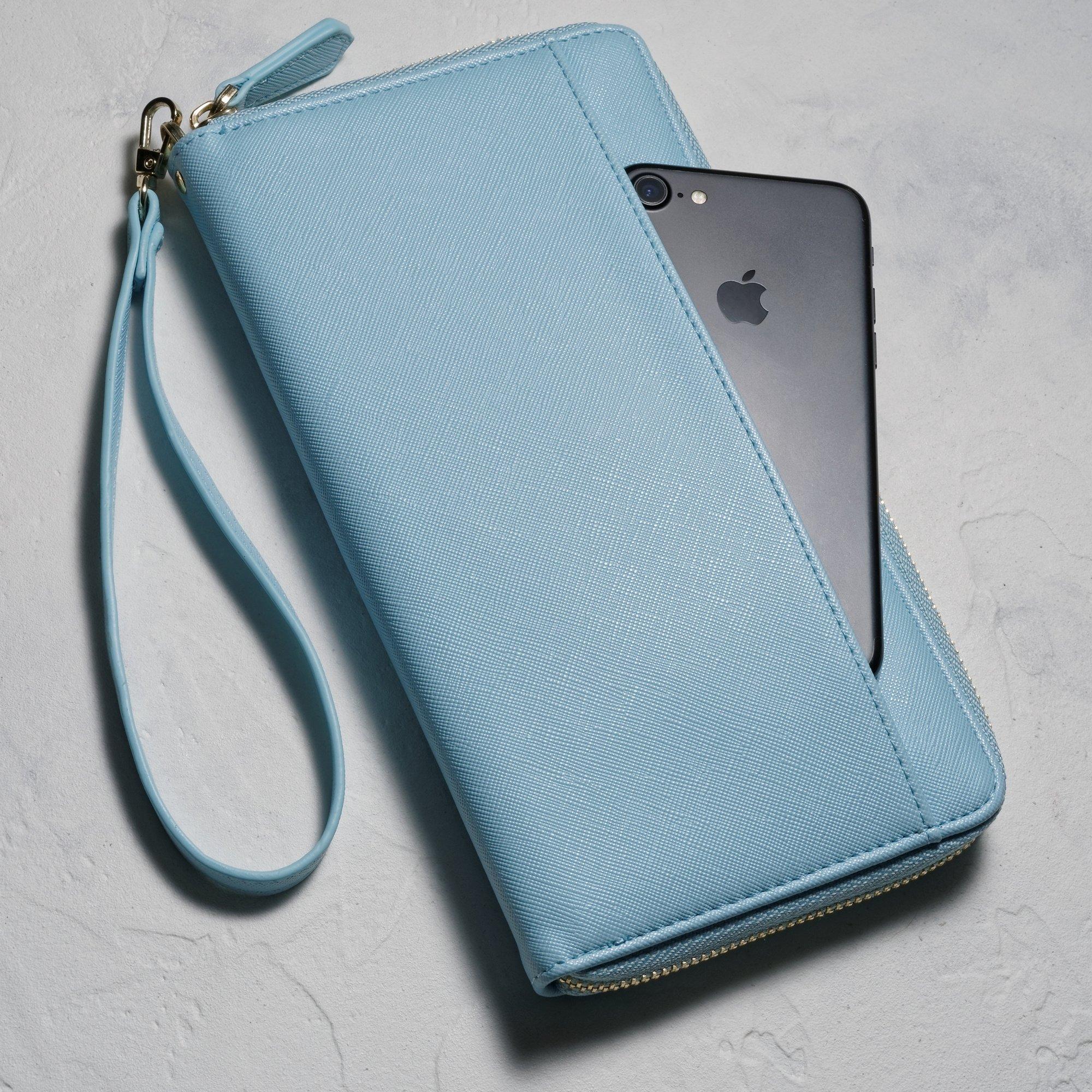 Travel Document Organizer & RFID Passport Wallet Case, Family Passport Holder Id (Blue Sky) by Apadi (Image #5)