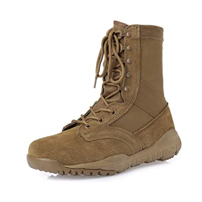 KaiFeng Mens Military Boots Tactical Army Boots: Shoes