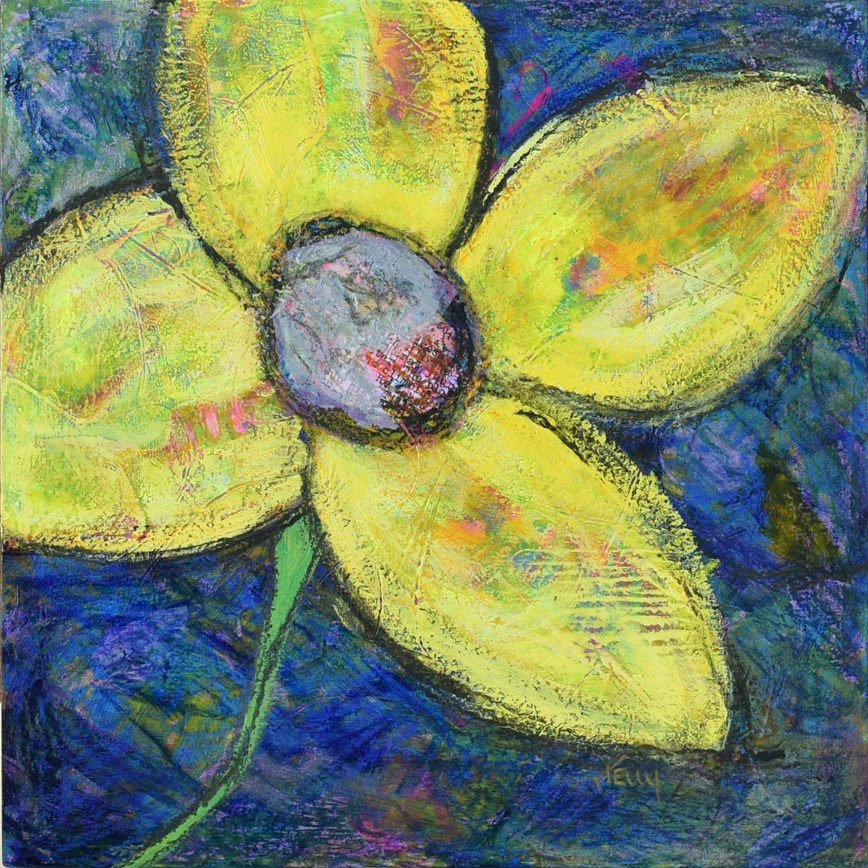 Flower Power 1 - Original Painting by