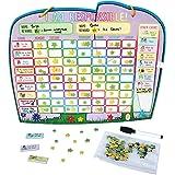 Ele-Fun Chart de Yoyoboko tableau de motivation, tableau de récompense magnétiques pour enfants, jeux éducatif pour 2 enfants en anglais –idée cadeau originale