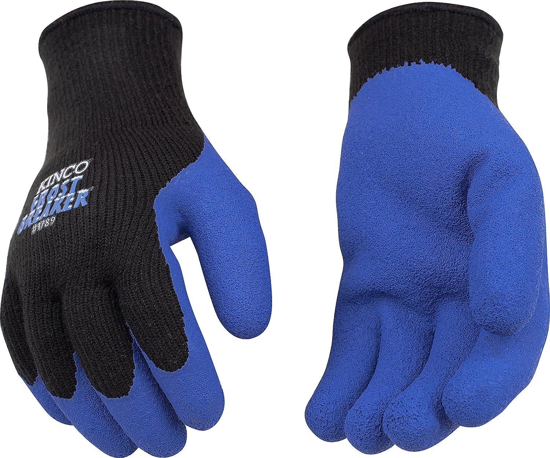 KINCO 1789-M Men's Frost Breaker Latex Form Fitting Thermal Gripping Glove, Medium, Black