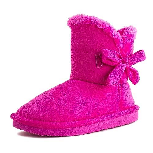 faa7847d7599 Kali Footwear Girls Ribbon Fur Ankle Short Faux Suede Boots (Toddler/Little  Kid)