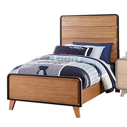 Acme Furniture 30760T Carla Bed, Twin, Oak And Black