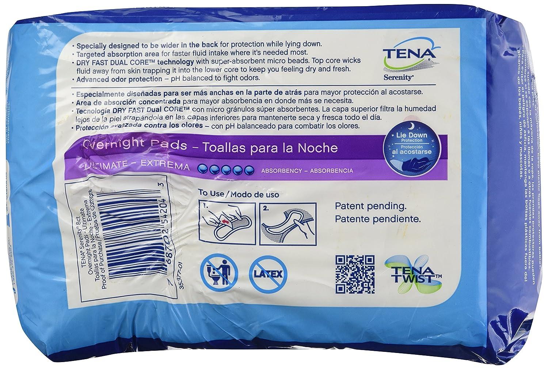 Amazon.com: Tena Serenity Overnight Pads Ultimate - 8 ct: Health & Personal Care