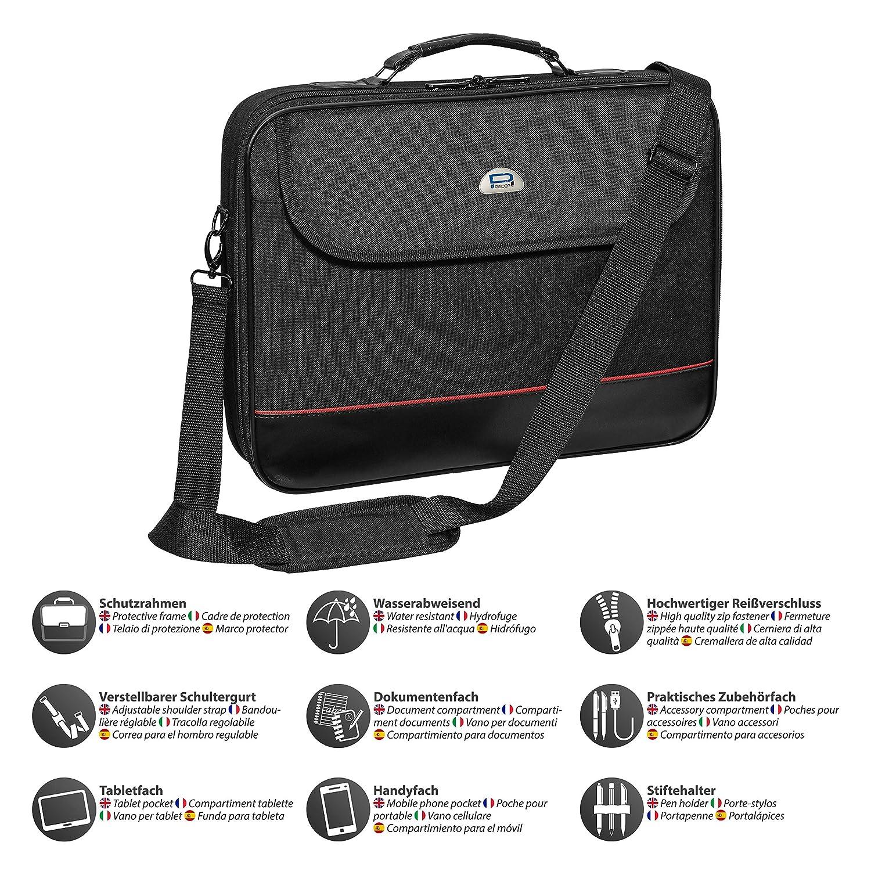 cfa6585dfe Pedea Sacoche pour l'ordinateur portable de 18,4 pouces (46,7cm) avec un  compartiment supplémentaire: Amazon.fr: Informatique
