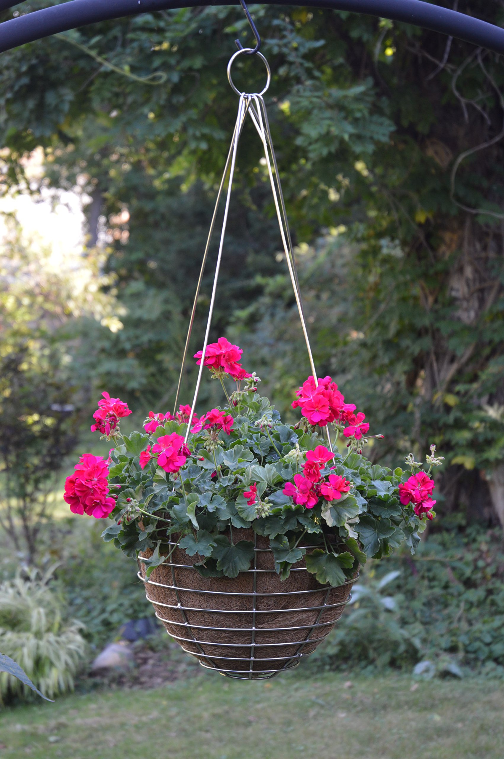 24'' Stainless Steel Hanging Basket with Coco Liner 24'' x 14.25'' by Kinsman