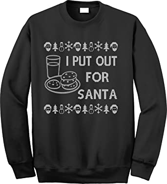 Amazoncom Unameit I Put Out For Santa Ugly Christmas Sweaters