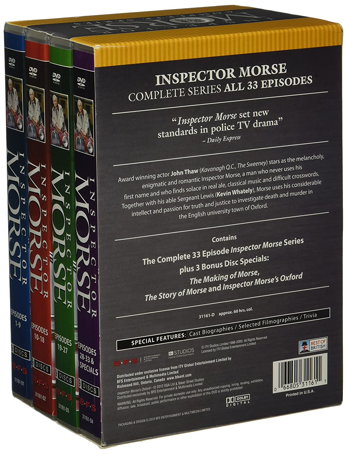 amazon com inspector morse collection complete series 36 dvds