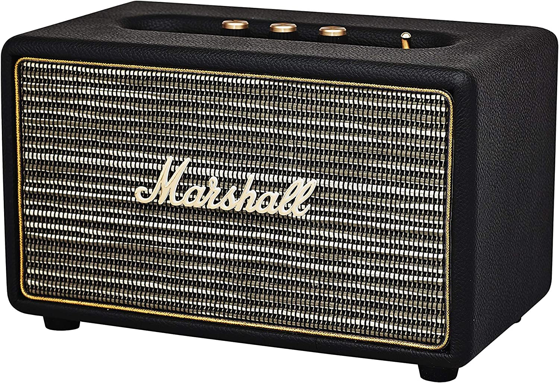 TALLA EU. Marshall Acton Bluetooth Altavoz con Cable, Negro