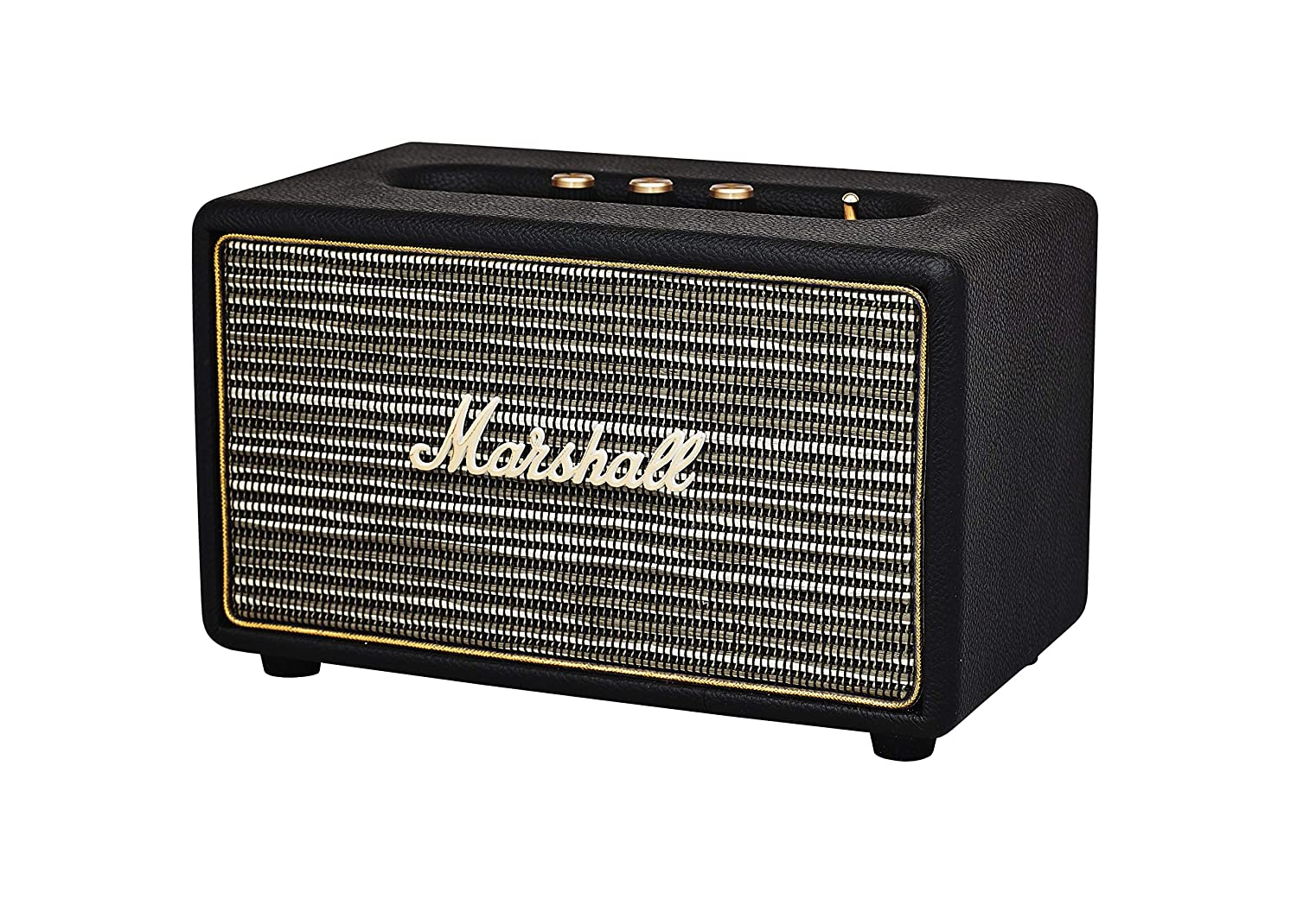 Marshall Acton Bluetooth Altavoz con Cable, Negro