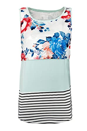 df7aa8c4582 Women Breastfeeding Nursing Tops Lace Floral Sleeveless Maternity Cami Tops  at Amazon Women's Clothing store: