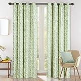 Drapery Bazaar Linen Blended Blackout Door Curtain Panels Light Blocking for Living Room & Bedroom, Steel Grommet Top…