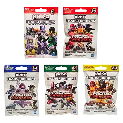 KRE-O Transformers Micro Changers 5 Pack Bundle Includes: Preview Series & Collection 1, 2, 3 & 4 Mini Figure Blind Bag Mystery Packs (1 Pack of Each): Toys & Games