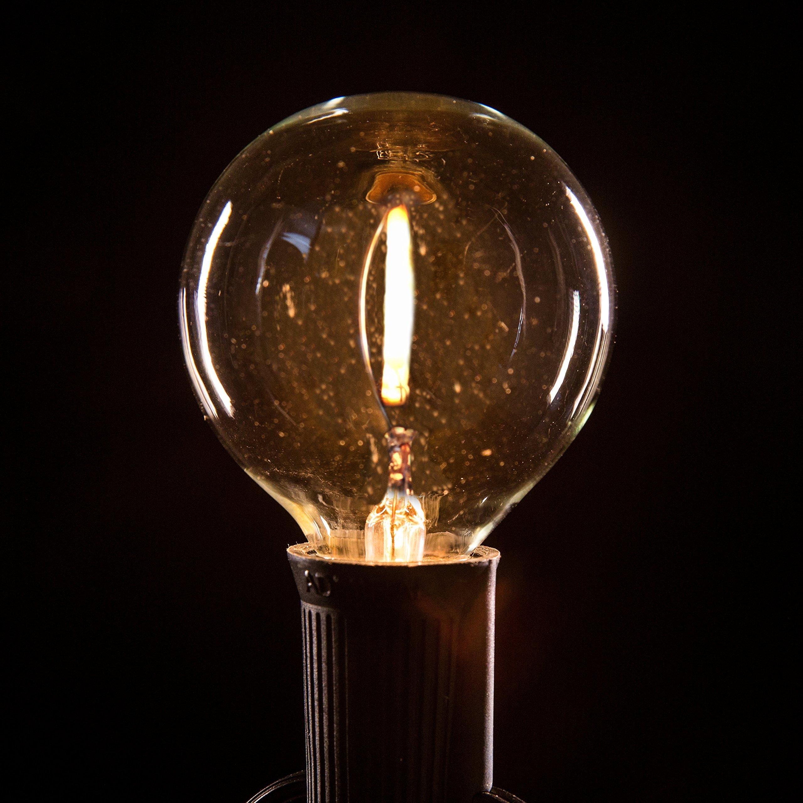 Hometown Evolution, Inc. Box of 25 G50 LED Filament Clear 2 Inch .6 Watt C9 E17 Base Replacement Bulbs