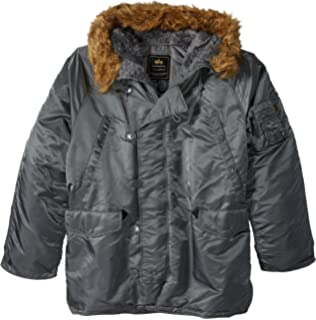 Amazon.com  Alpha Industries Men s N-3B Slim-Fit Parka Coat with ... 527f54024c