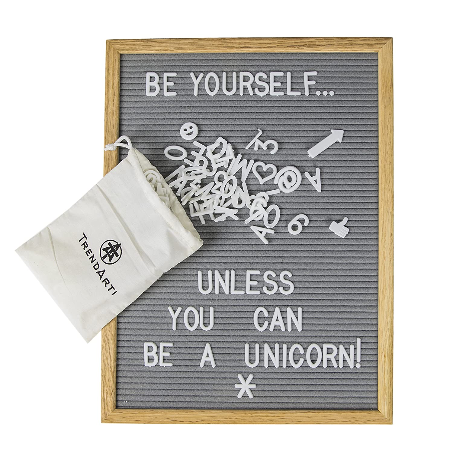 80%OFF Gray Felt Letter Board with 696 Letters, Numbers & Symbols 16 ...