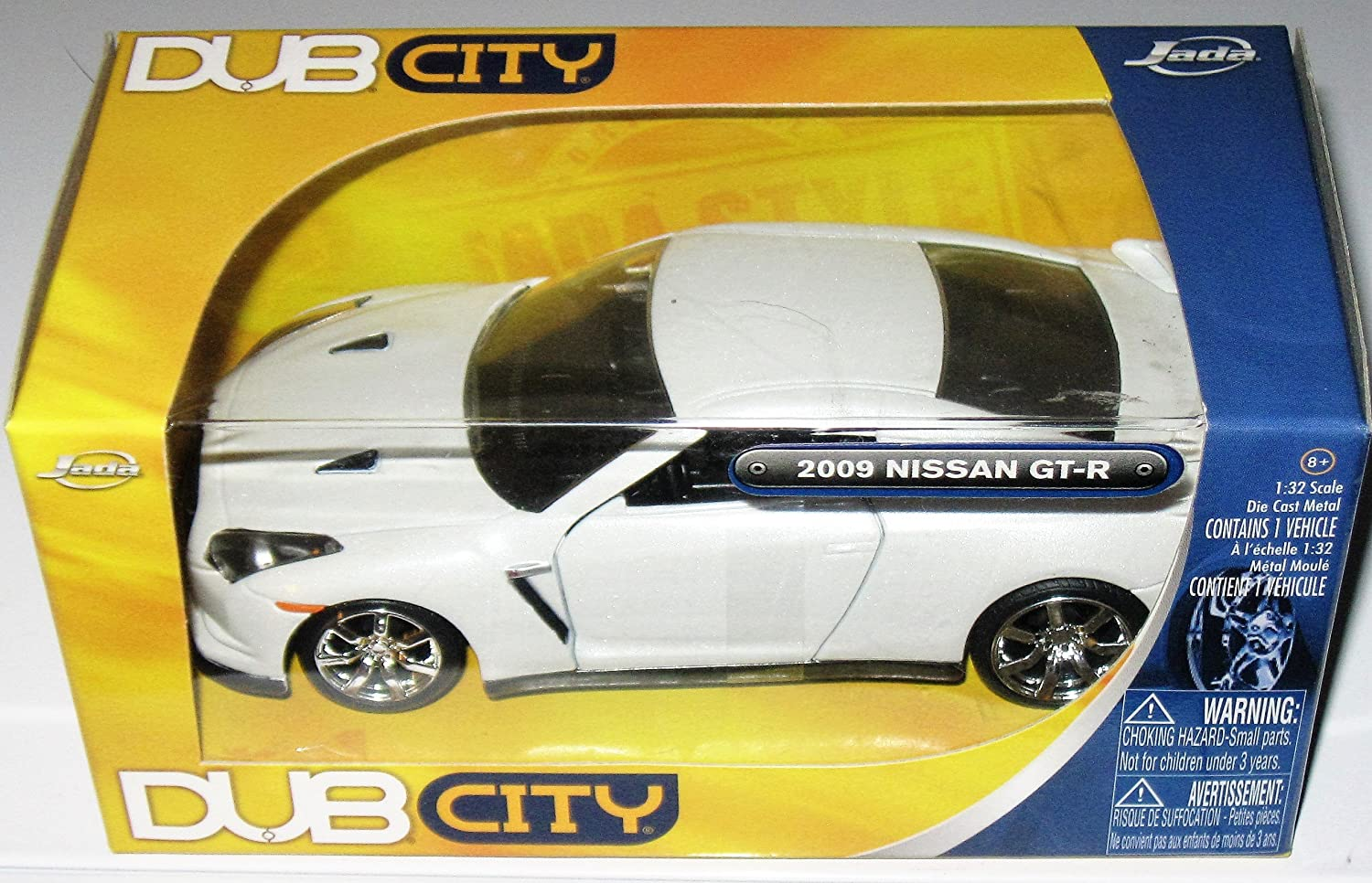 Dub City 2009 Nissan Gt-r White 1:32 Scale by Dub City