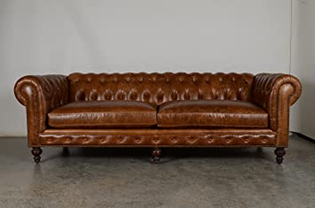 COCOCO Chesterfield Leather Sofa