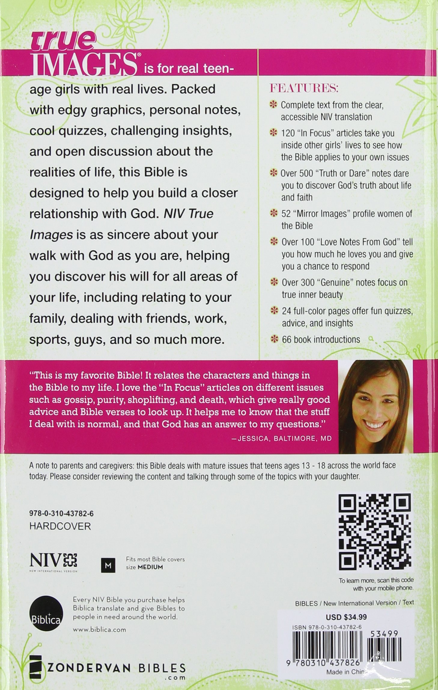 Buy True Images-NIV: The Bible for Teen Girls Book Online at Low