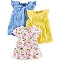 Simple Joys by Carter's paquete de 3 camisetas y tops de manga corta para niñas