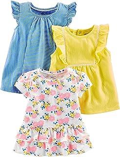 bda5113af0e6 Amazon.com: Simple Joys by Carter's Toddler Girls' 4-Piece Tops and ...