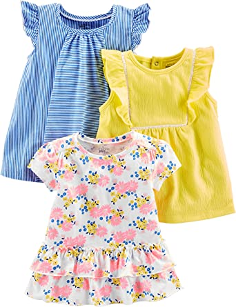 Pack of 3 Simple Joys by Carters Baby Girls 3-Pack Bike Shorts