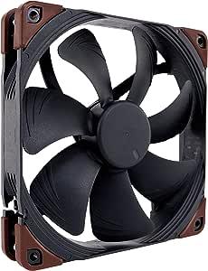 Noctua NF-A14 iPPC-2000, Heavy Duty Cooling Fan, 3-Pin, 2000 RPM (140mm, Black)