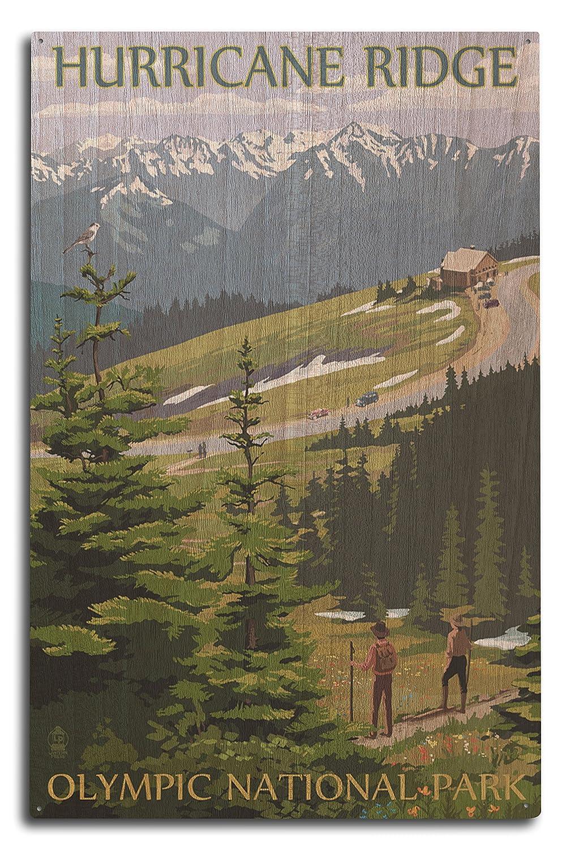 100%品質 Hurricane Ridge(ハリケーンリッジ) Olympic National Park(オリンピック国立公園) ワシントン州 壁飾り 24 x 36 Giclee Print LANT-33513-24x36 B0736772PH  10 x 15 Wood Sign 10 x 15 Wood Sign, 美容とダイエット生活便利ネット 514679bf