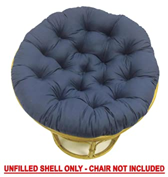 Cotton Craft   Papasan Chair Cushion (unfilled Shell Only)   Navy   Pure 100