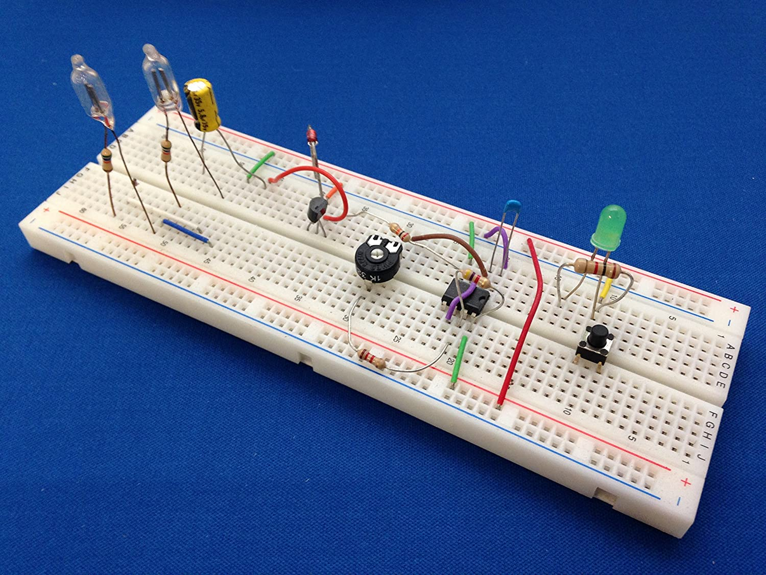Lm555 Timer Ic Projects Kit 1 With Solderless Is How You Can Make A Metronome The 555 Breadboard Toys Games