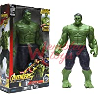 Marvel and Justice League Comic/Movie Super Hero Legends - 12 Inch Action Figure Toy with Sound and Batteries (Hulk)