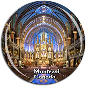 Notre-Dame Basilica Montreal Canada Fridge Magnet 3D Crystal Glass Tourist City Travel Souvenir Collection Gift Strong Refrigerator Sticker