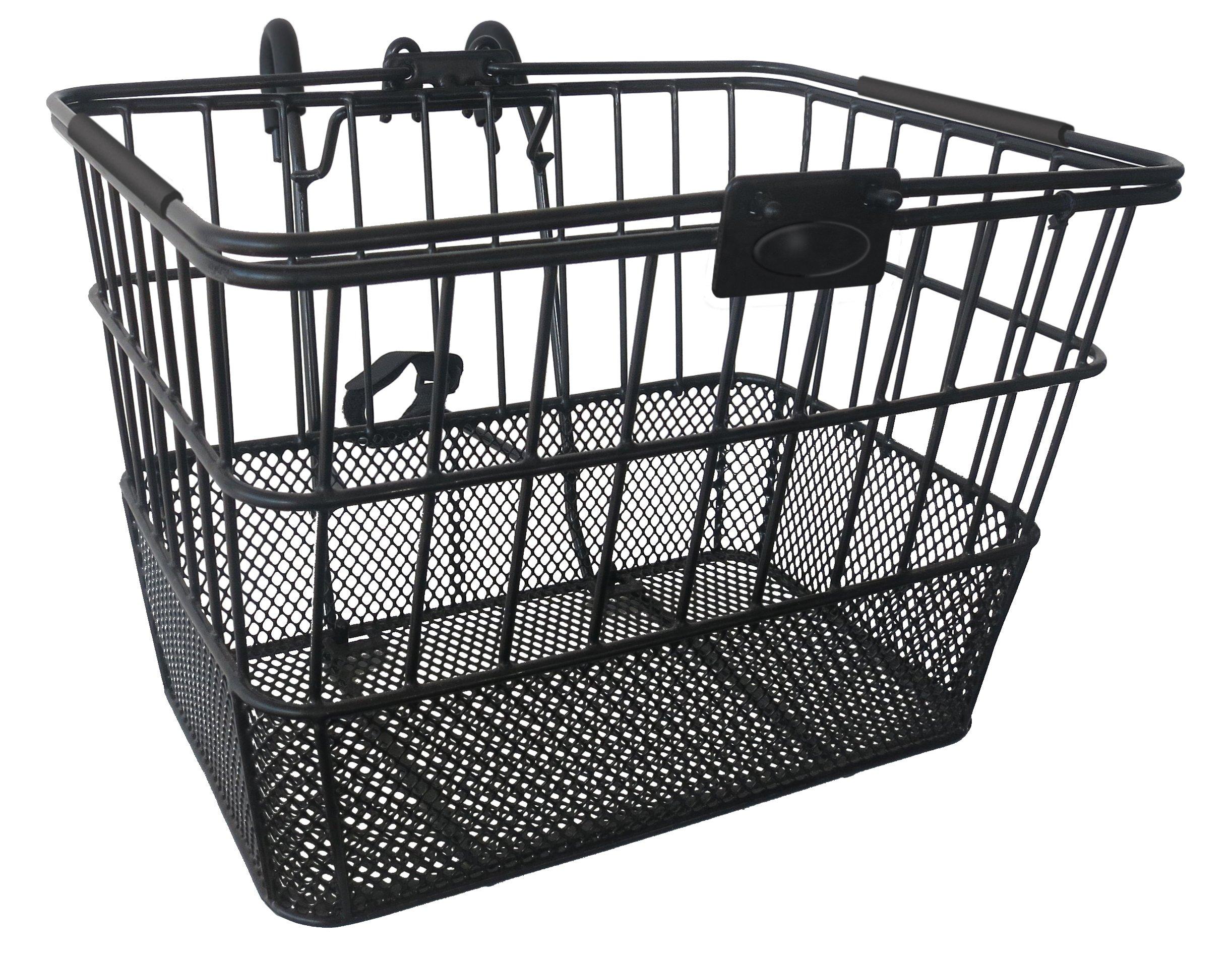 Treasure Gifts Mesh Bottom Lift-Off Basket w/Bracket, Black