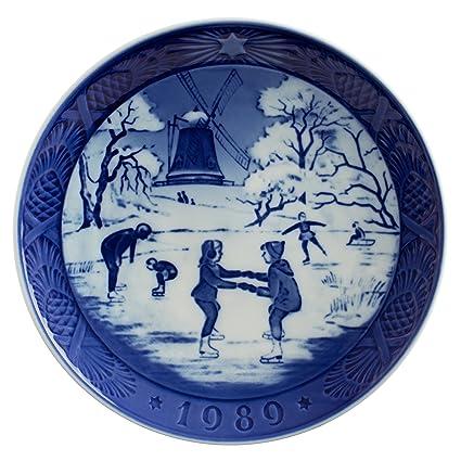 Ceramiche Di Copenaghen Prezzi.Royal Copenhagen Piatto Di Natale 1989 Originale Porcellana Prima