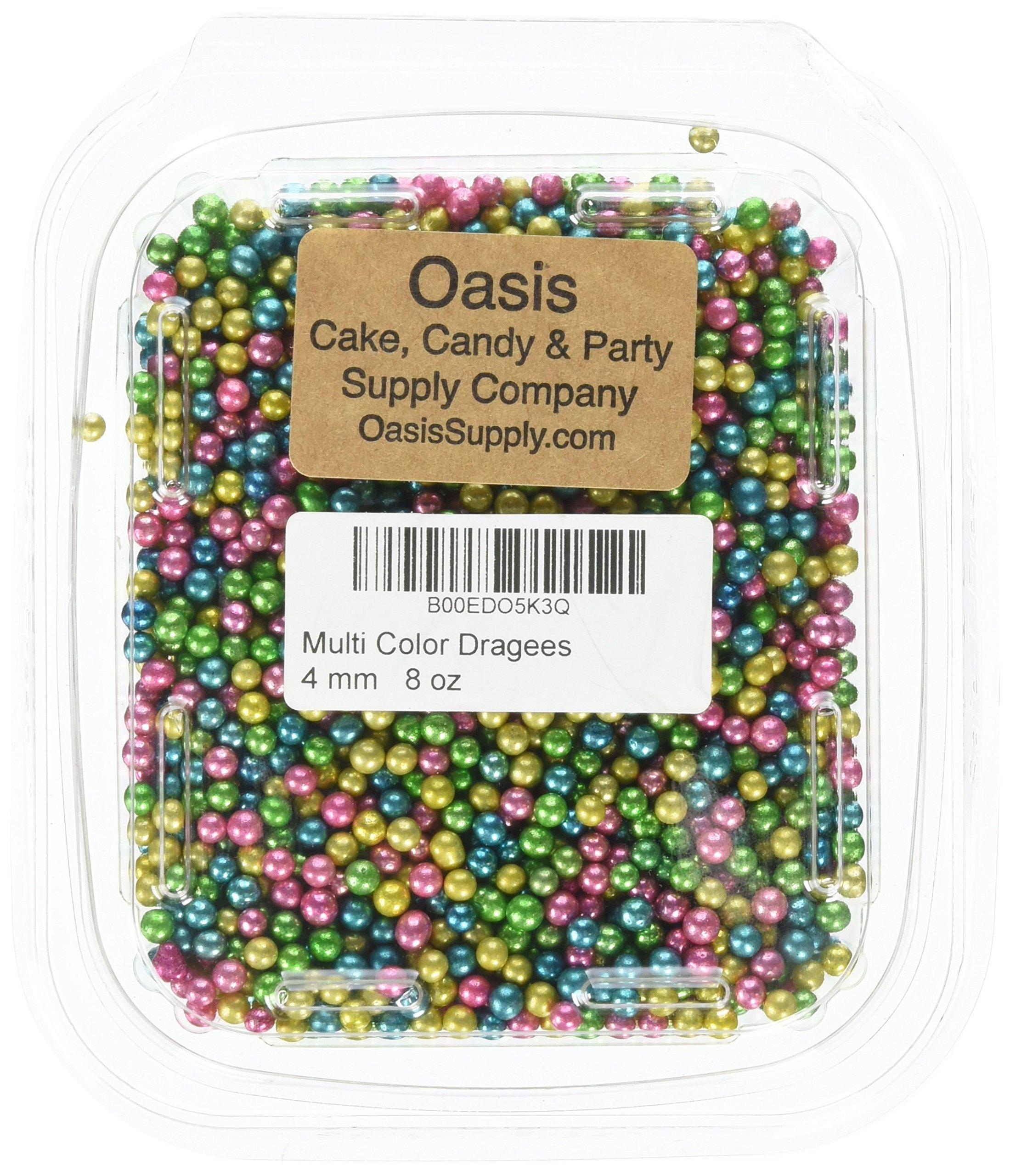 Bakers EZ way 8-Ounce Dragees Cake Cupcake Cookie Sprinkles, 4mm