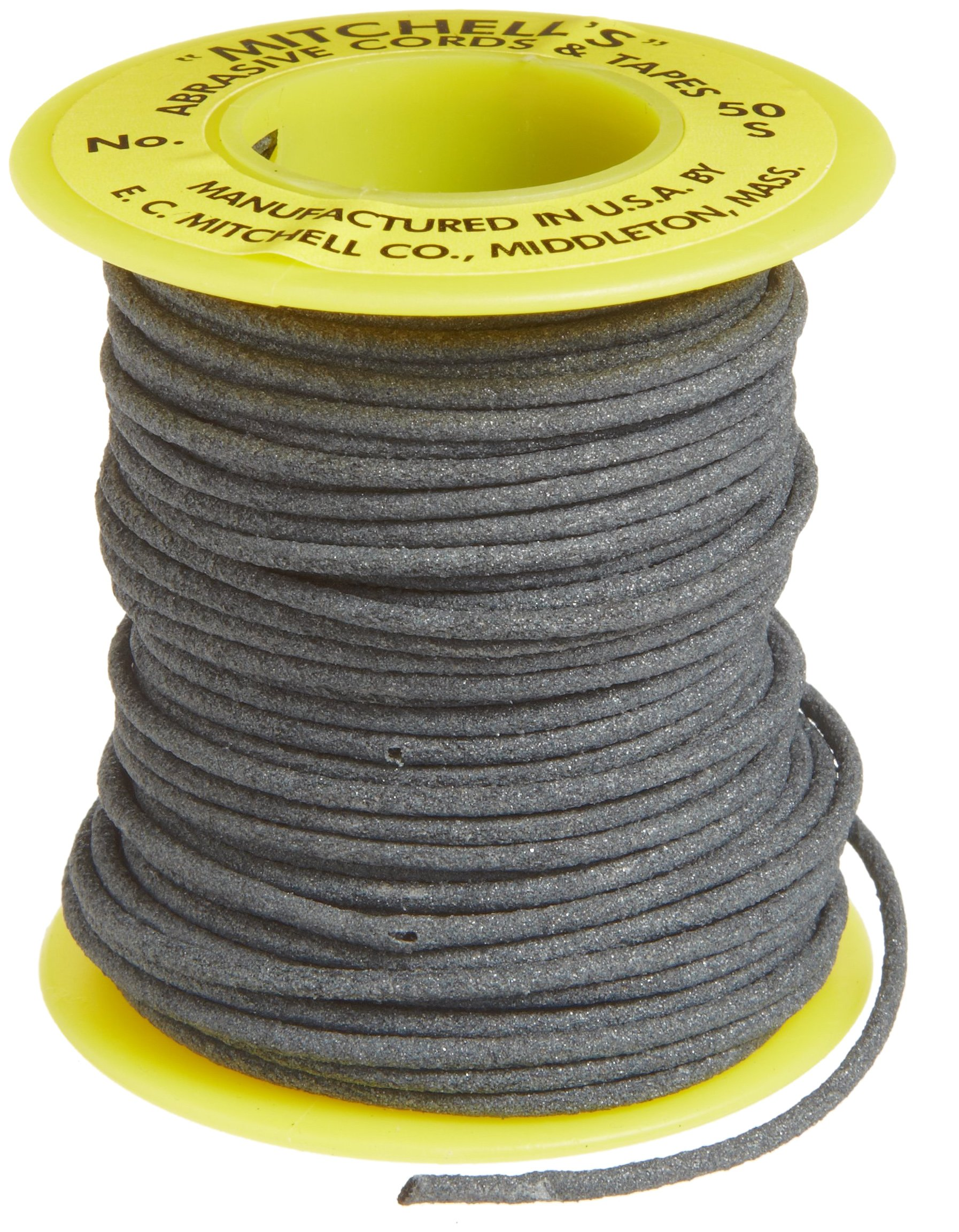 Mitchell Abrasives 50-S Round Abrasive Cord, Silicon Carbide 180 Grit .070'' Diameter x 25 Feet