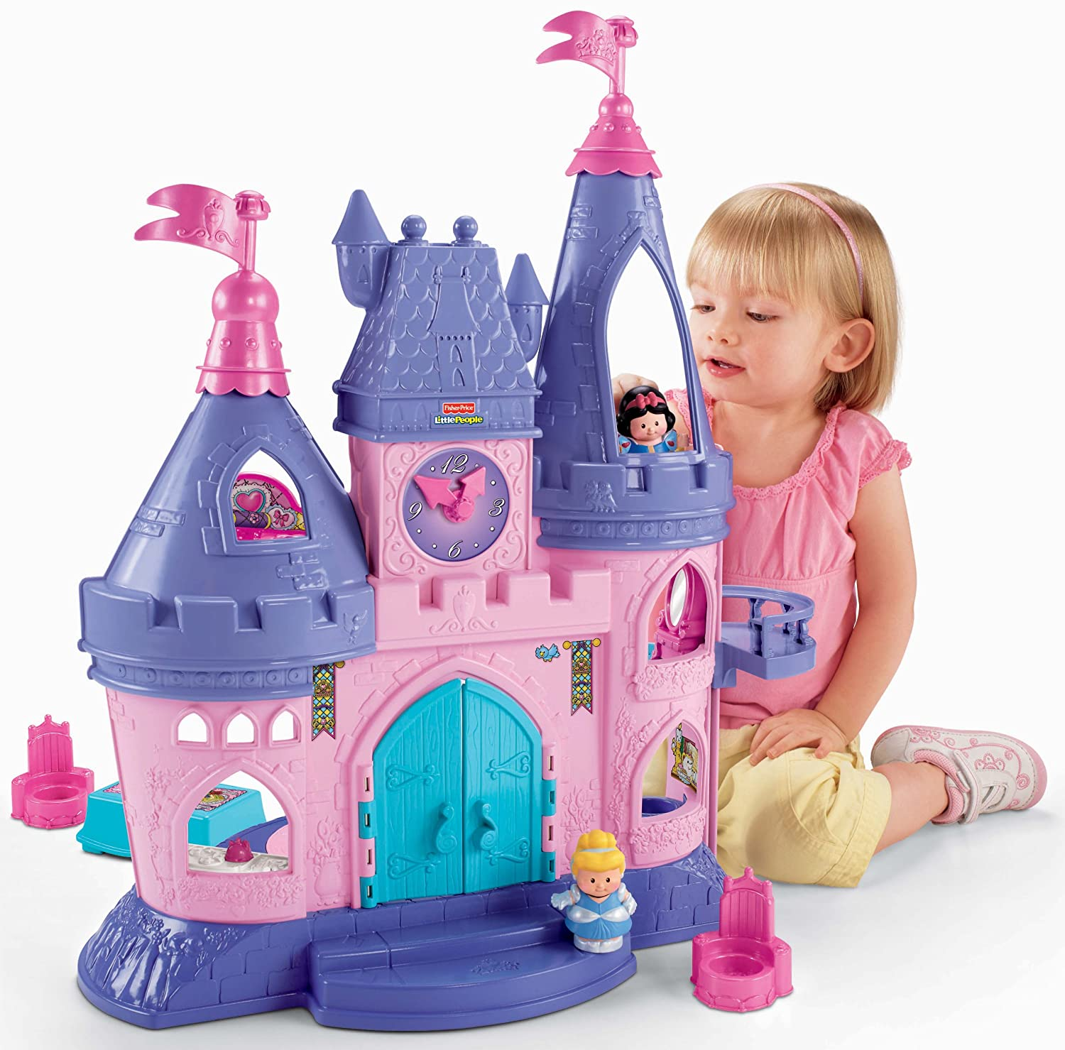 Amazon.com: Fisher-Price Little People Disney Princess, Songs Palace ...