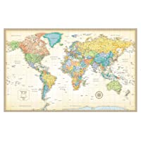Rand McNally Classic World Wall Map - Laminated